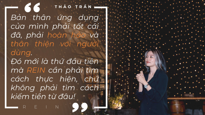 Thảo Trần, Co-founder ứng dụng REIN.
