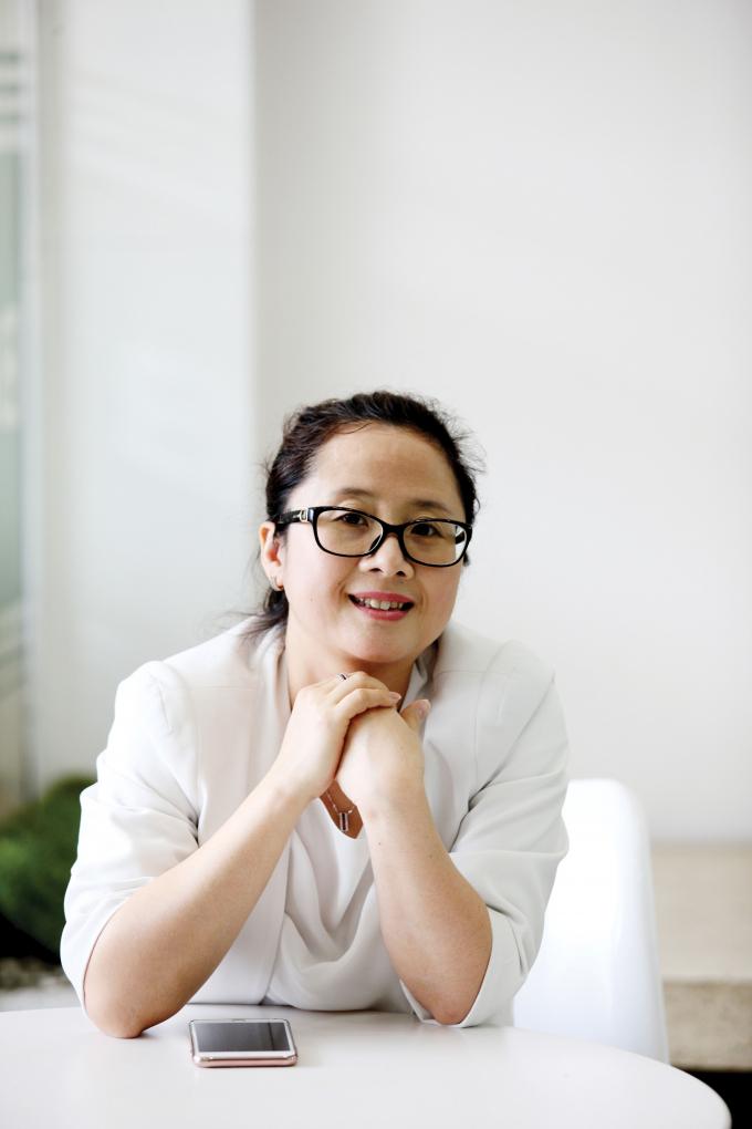 Chị Nguyễn Anh Khuê - Giám đốc phòng giao dịch của Ngân hàng BIDV