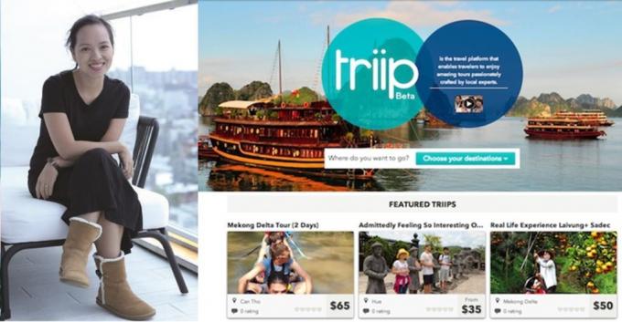 Thúy Hà và ứng dụng Triip.me (nay đổi tên là Triip)