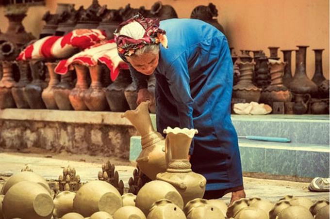 Hình ảnh về làng gốm Bàu Trúc, Ninh Thuận. Nguồn: baomoi.com