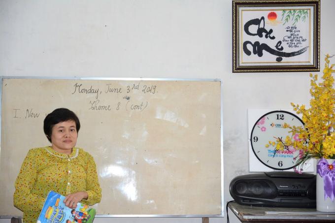 Chị Lê Thị Lan Anh trênlớp học tiếng Anh tại nhà. Nguồn: giaoduc.net.vn