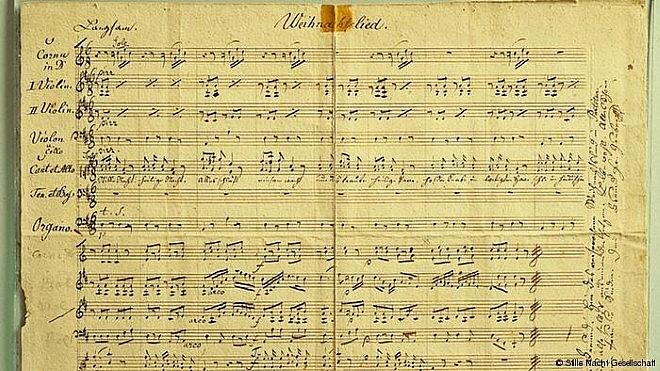 Bản nhạc ca khúc Silent night của Franz Gruber. 9Nguồn: Thể Thao Văn hóa)