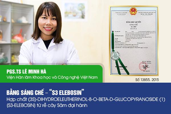 PGS. TSLê Minh Hà và bằng độc quyền sáng chế.