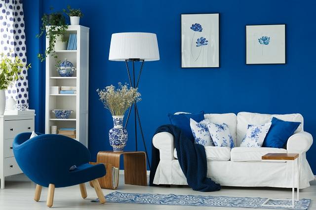 Sử dụng màu xanh nayvy trên các bức tường hoặc đồ nội thất tạo cảm giác cổ điển. Nguồn:noithatdangkhoa.com