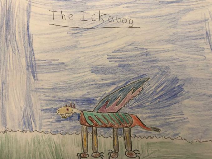 """Nhà xuất bản của J.K.Rowling cũng tổ chức một cuộc thi trực tuyến trên Twitter kêu gọi trẻ em từ khắp nơi trên thế giới vẽ tranh minh họa cho """"The Ickabog"""". Nguồn:theickabog.com"""