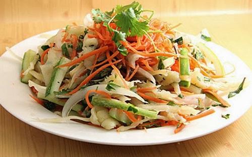 Nộm ngó sen chua ngọt, thanh mát. Nguồn:pgrvietnam.org.vn