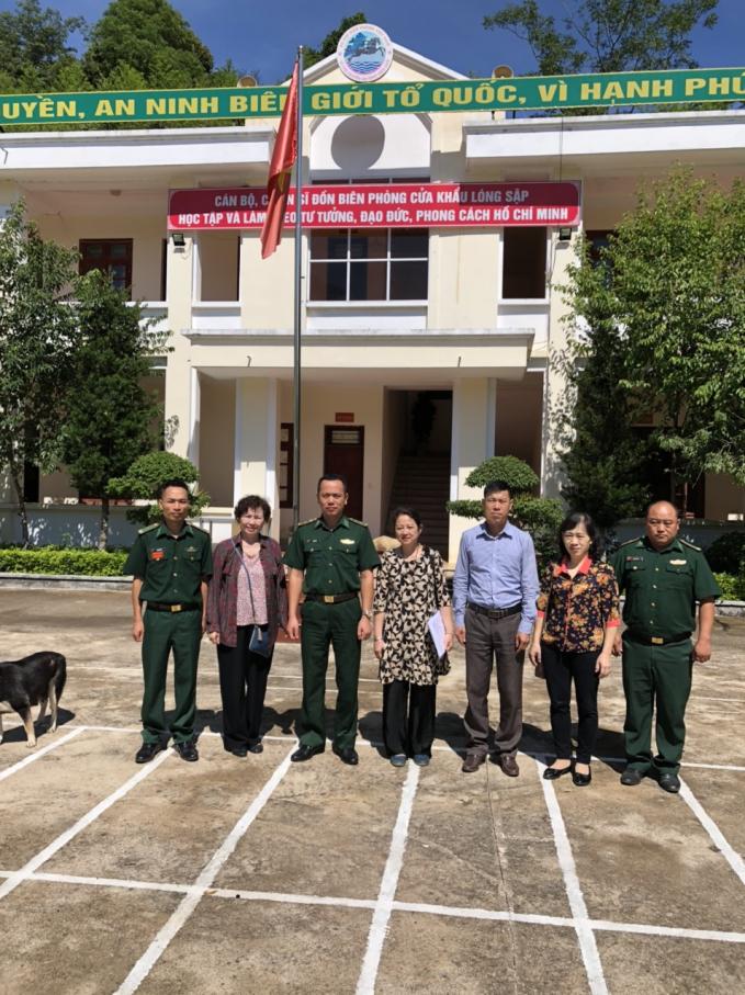 Thăm và làm việc tại Đồn biên phòng Lóng Sập, Mộc Châu, Sơn La