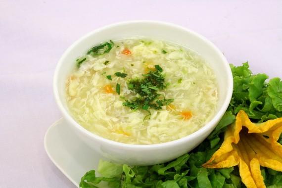 Món soup măng tây khai vị ngọt thanh