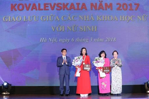 PGS. TS Trần Vân Khánh tại lễ trao Giải thưởng Kovalevskaia năm 2017