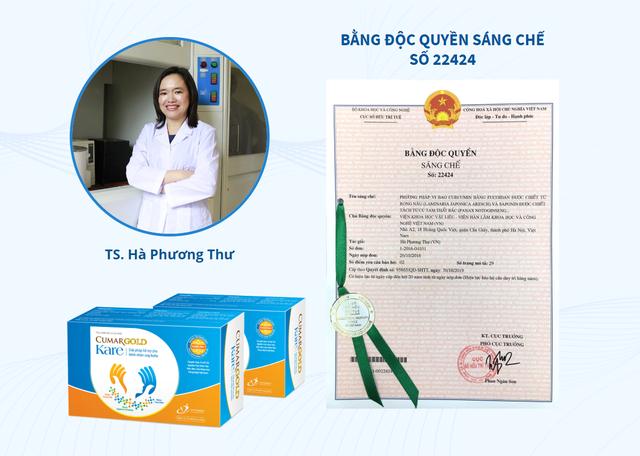 Phức hệ nano FGC của TS Hà Phương Thư được chuyển giao cho Công ty CVI và Bộ Y tế cấp phép để lưu hành trên thị trường ở dạng thực phẩm chức năng hỗ trợ điều trị ung thư với tên gọi Cumargold kare