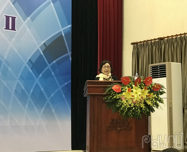 GS.TSKH Phạm Thị Trân Châu phát biểu khai mạc Hội nghị
