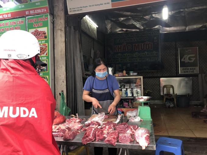 Thịt bò có giá 250.000 - 260.000 đồng/kg tùy loại.