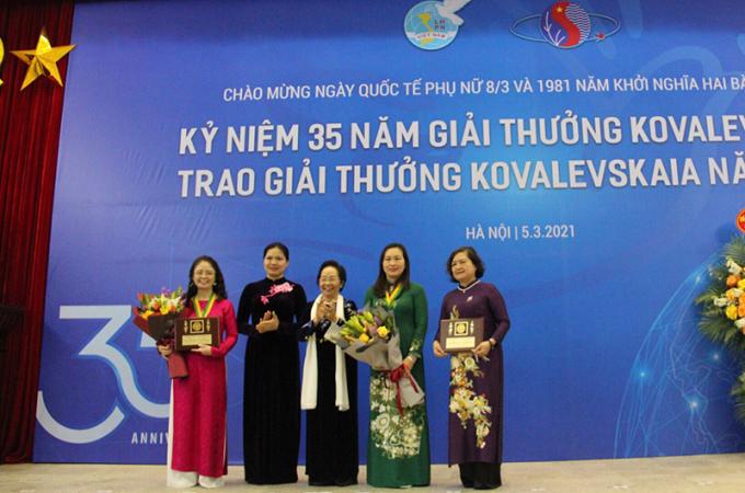 Các cá nhân và tập thể được trao tặng Giải thưởng Kovalevskaia 2020