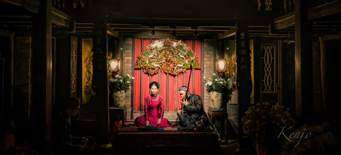 Cô đầu Cúc, kép Hai - nhà hát Chu Thị trong một chầu hát ca quán