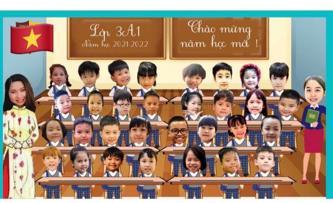 Mặc dù sau lễ khai giảng,thầy trò tạiHà Nội sẽ tham gia dạy và học bằng hình thức trực tuyến, nhưng các cô vẫn sắp xếp chỗ ngồi cho các con bằng những bức ảnh vô cùng đáng yêu.
