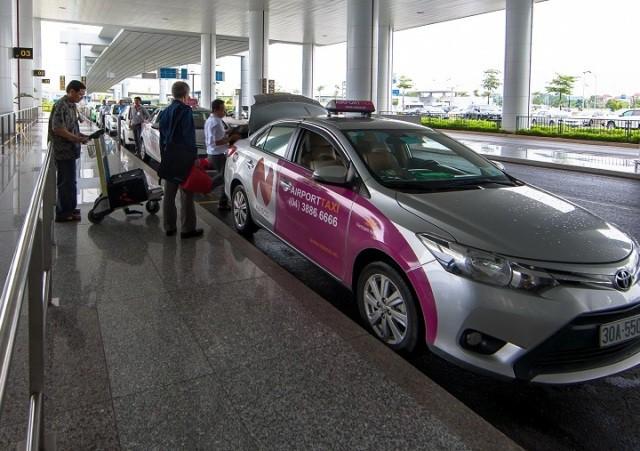 Taxi hoạt động tại sân bay Nội Bài chỉ có 10 thương hiệu được nhượng quyền