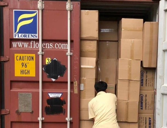 Container số hiệu FCIU8689004 chứa lò nướng nguyên chiếc hiệu Asanzo nhập từ Trung Quốc, nhưng Công ty Sa Huỳnh khai báo là linh kiện lò nướng không nhãn hiệu.Ảnh: Tuổi Trẻ.