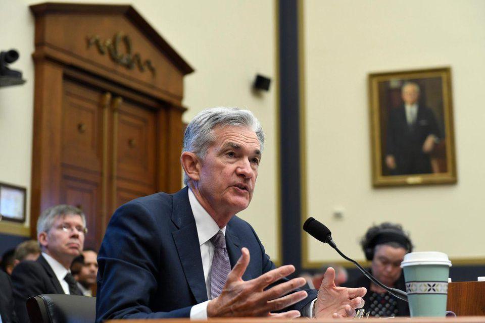 Chủ tịch Cục Dự trữ Liên bang Jerome Powell làm chứng trước Ủy ban Dịch vụ Tài chính Hạ viện tại Tòa nhà Quốc hội ở Washington vào ngày 10/7/2019.Ảnh: AP