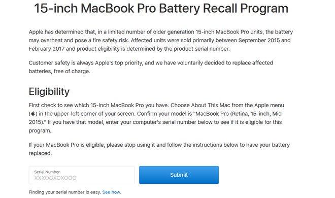 Đến lượt Singapore cấm mang một số mẫu MacBook Pro 15 inch lên máy bay