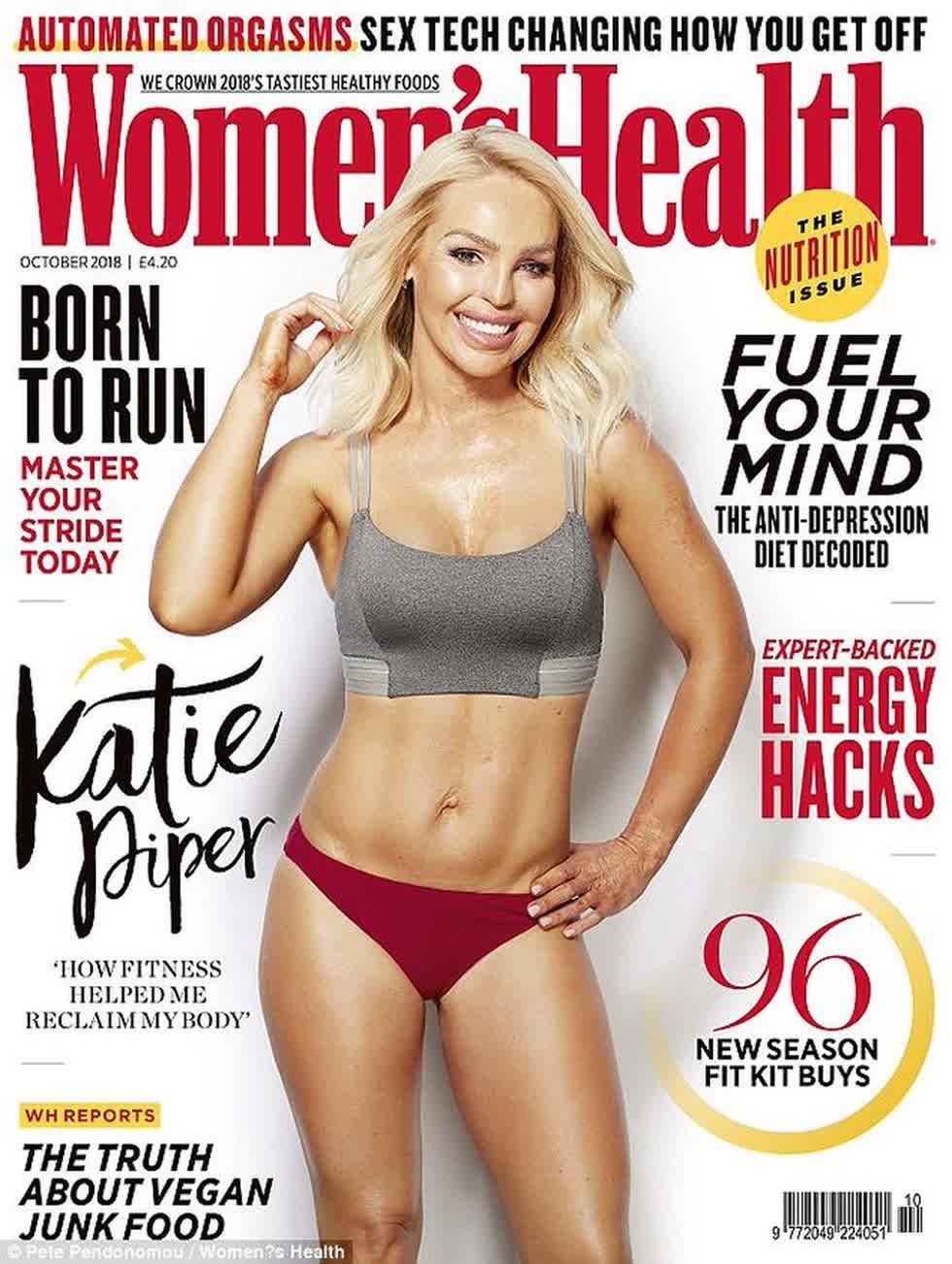 Năm ngoái Katie Pipre xuất hiện trên bìa một tạp chí, như một cách truyền cảm hứng cho những người đang bị suy sụp