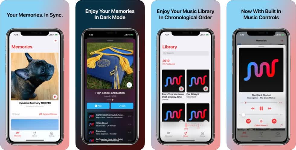 Ứng dụng này cho phép bạn tạo danh sách phát các bài hát bạn yêu thích tùy theo mục đích hoặc bất kỳ thời điểm nào trong cuộc sống của bạn.