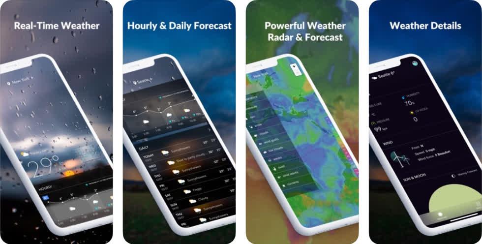 Ứng dụng này sẽ cập nhật những thông tin về thời tiết chính xác cho người dùng. Đồng thời, phần mềm cũng cung cấp khả năng dự báo thời tiết trong 10 ngày tiếp theo với độ chính xác cao.