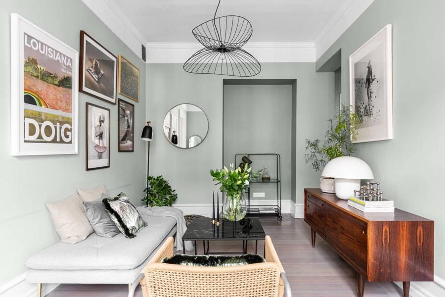Xanh xám là màu nội thất mùa thu hot năm nay, đem lại cảm giác dịu dàng và dễ chịu.