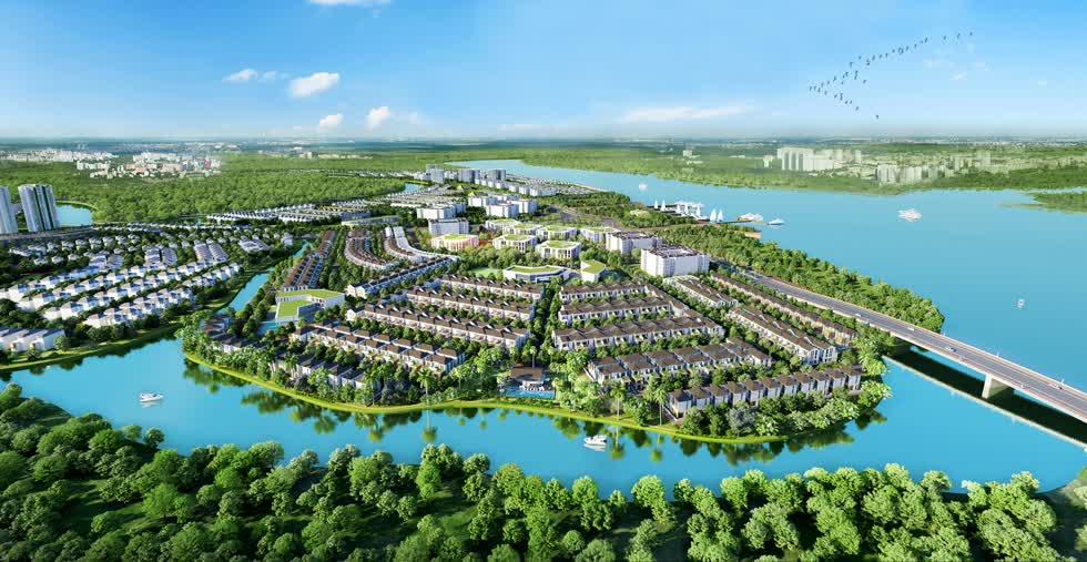 Khu đô thị sinh thái Aqua City nổi bật với quy hoạch sinh thái chuẩn mực và dành hơn 70% diện tích cho mảng xanh.