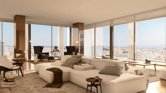Phòng dành cho sinh hoạt gia đình mang những đường nét trang nhã, thanh thoátvới sàn gỗ và tông màu be chủ đạo.