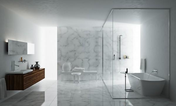 Sử dụng đá ốp giúp nhà vệ sinh, phòng tắm sang chảnh và hiện đại