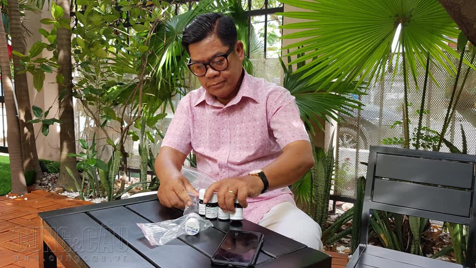 Ông Trịnh Thành Nhơn, Chủ tịch HĐQT Công ty ICC, Nhà sáng lập thương hiệu  Kem đánh răng Dạ Lan . Ảnh: Cẩm Viên