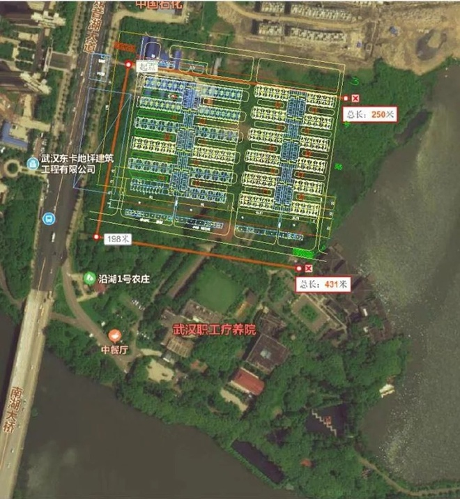 Cơ sở này có diện tích 25.000 m2 và sức chứa 1.000 giường bệnh, theoNhân dân Nhật báo.