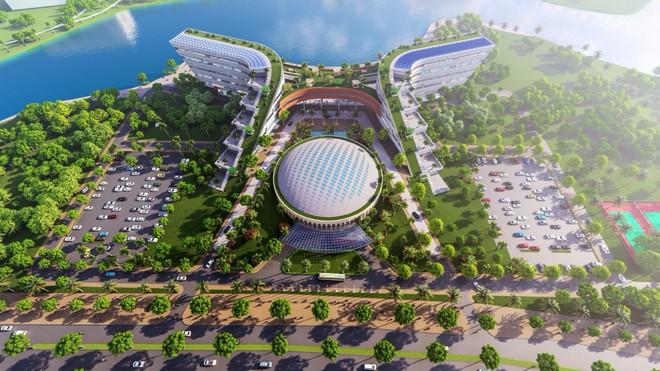 Phối cảnh Trung tâm Đổi mới sáng tạo quốc gia Việt Nam. Ảnh: NIC