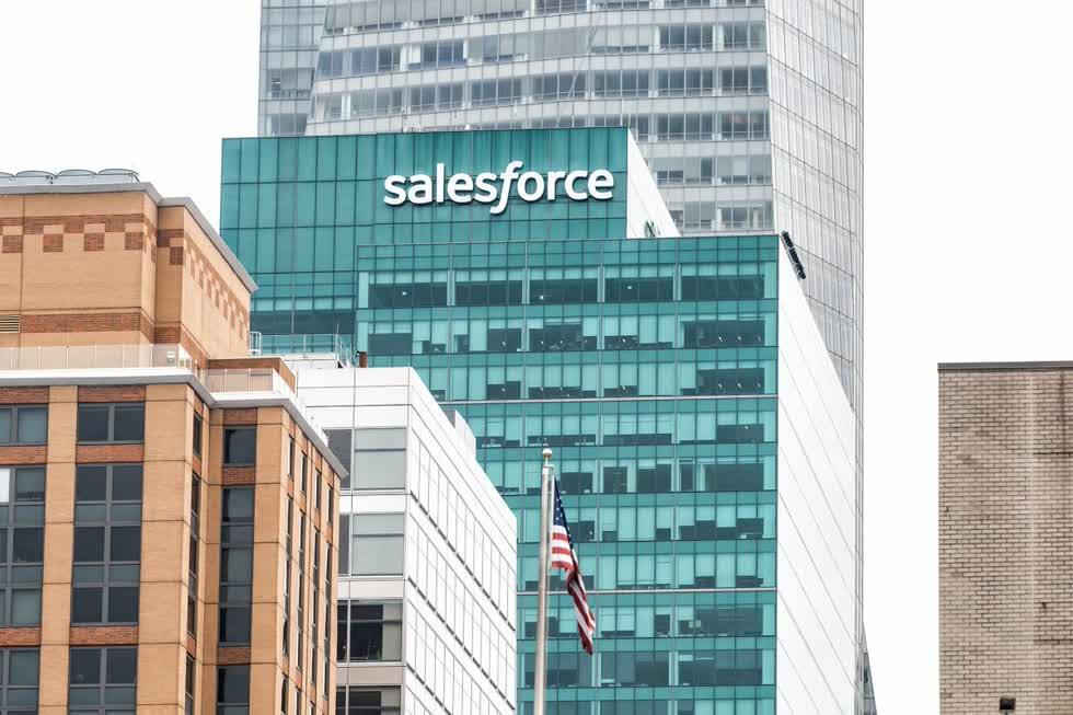 Công ty Salesforce (CRM). Ảnh: US News Money.
