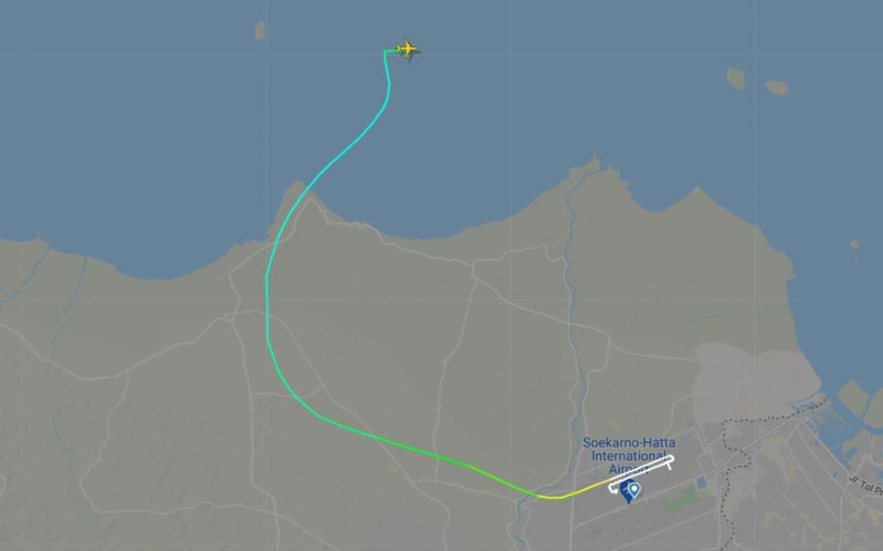 Vị trí máy bay mất tích.