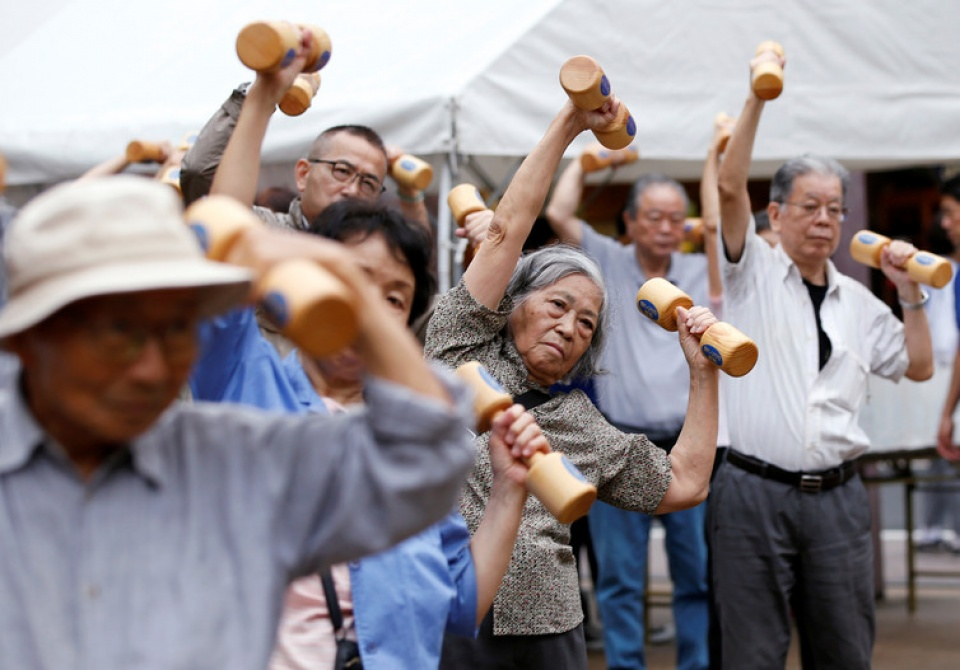 Nhật Bản là quốc gia với dân số người cao tuổi tăng nhanh hơn bất kỳ nước nào khác. Ảnh: The Conversation.