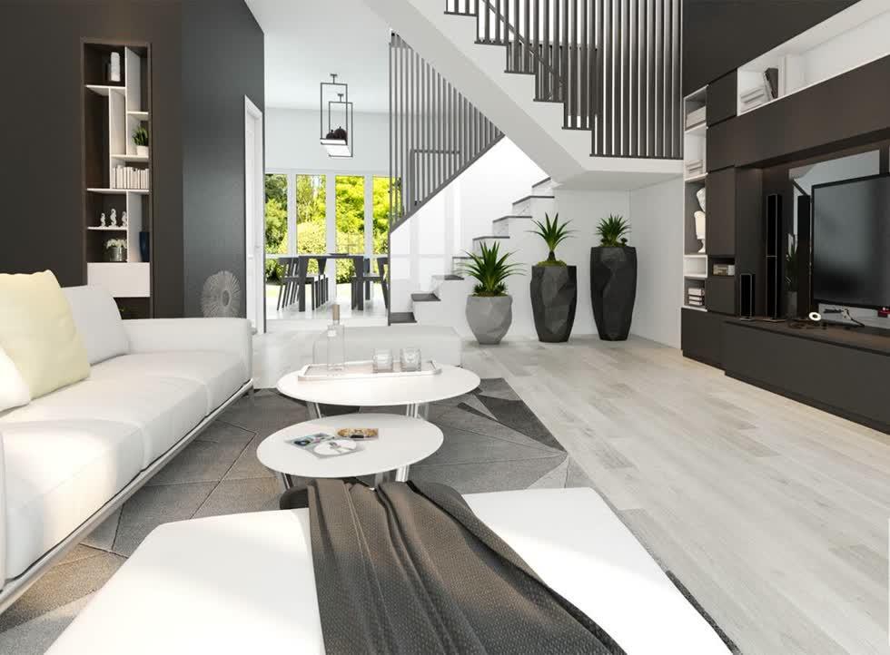 Trong khi tông màu sáng như màu trắng, màu kem… có thể khiến gia chủ cảm giác căn phòng như rộng rãi và thoáng sáng hơn.