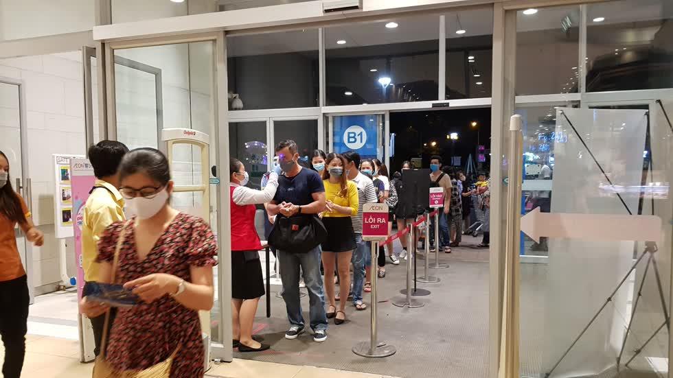 Trung tâm mua sắmAEON Tân Phú nơi xảy ra vụ ẩu đả. Ảnh: Cẩm Viên.