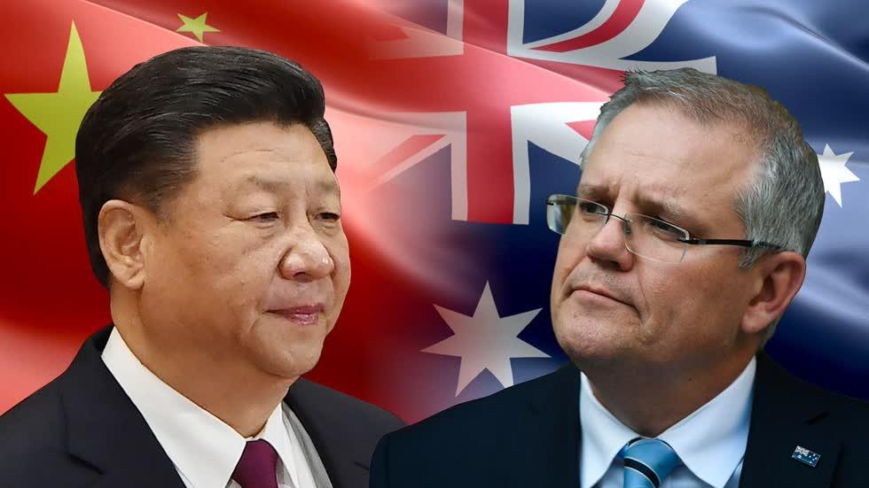 Căng thẳng leo thang giữa Trung Quốc - Australia khiến Australia đưa ra cảnh báo thương mại. Ảnh: Tfi Post.