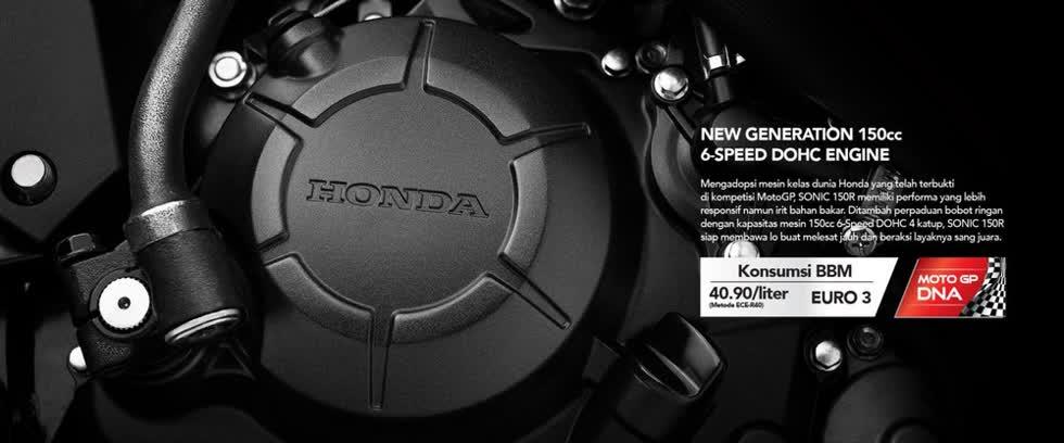 Honda Sonic 150R 2020sở hữu khối động cơ 149,15cc.