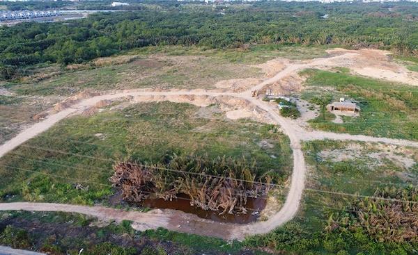 Lô đất 32ha ở Phước Kiển,huyện Nhà Bè. Ảnh: Zing