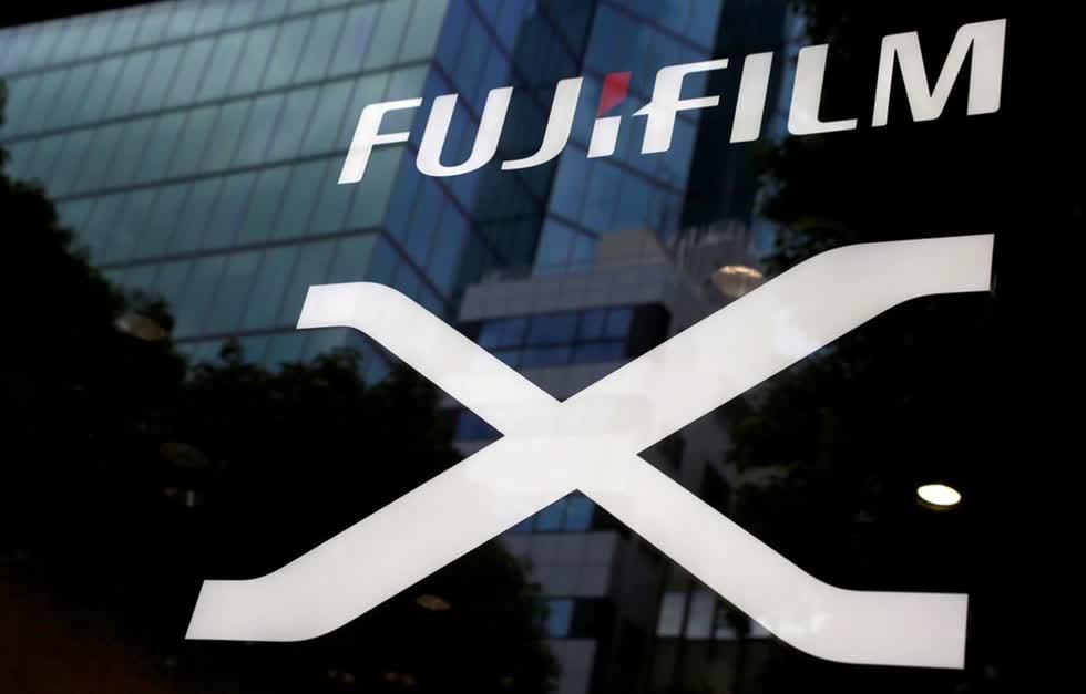 Logo công ty của Fujifilm. Ảnh: Reuters