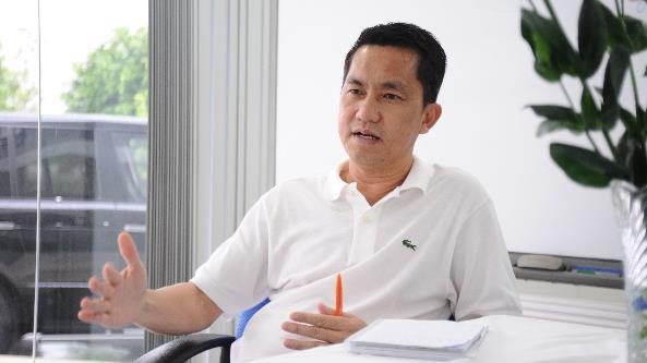 Ông  Hồ Nhân , Tổng Giám đốc Công ty Công nghệ Sinh học Dược Nanogen. Ảnh: VOH