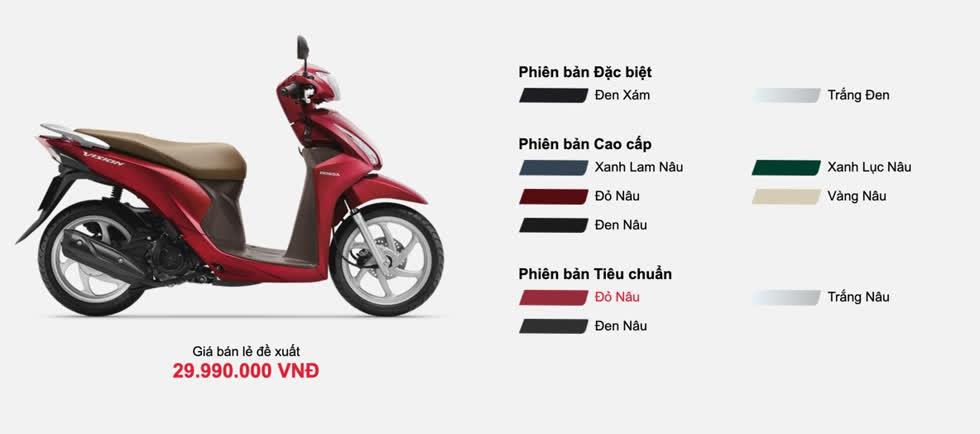 Giá xe máy Honda Vision tháng 3/2020: Cao hơn giá niêm yết từ 1-1,5 triệu