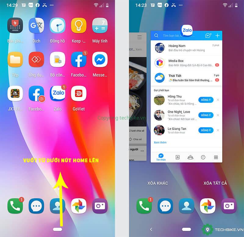Làm thế nào để chia đôi màn hình trên điện thoại Vsmart