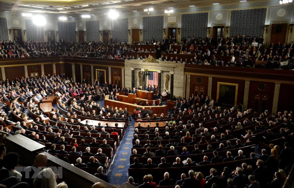 Toàn cảnh phiên họp Quốc hội Mỹ tại Washington, DC. Ảnh: AFP