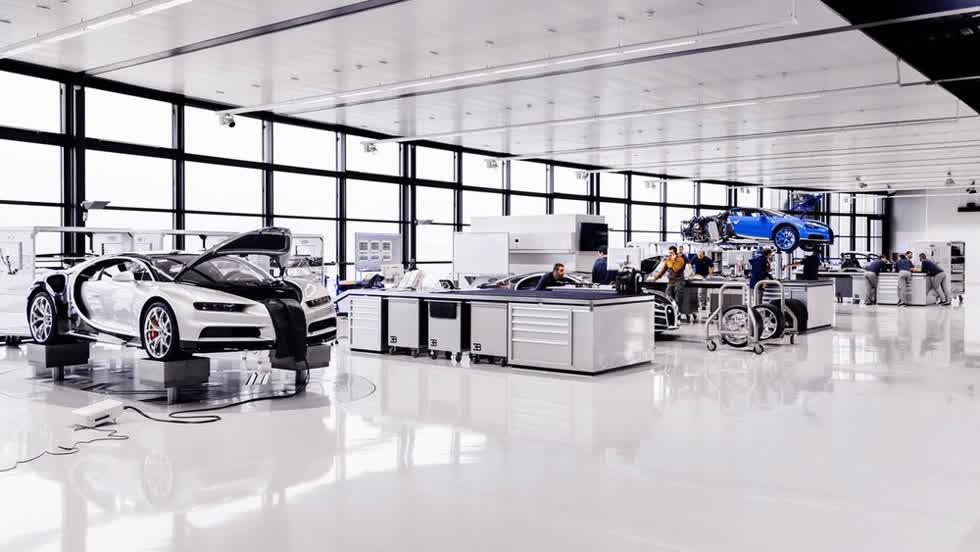 Hình ảnh bên trong nhà máy Bugatti.