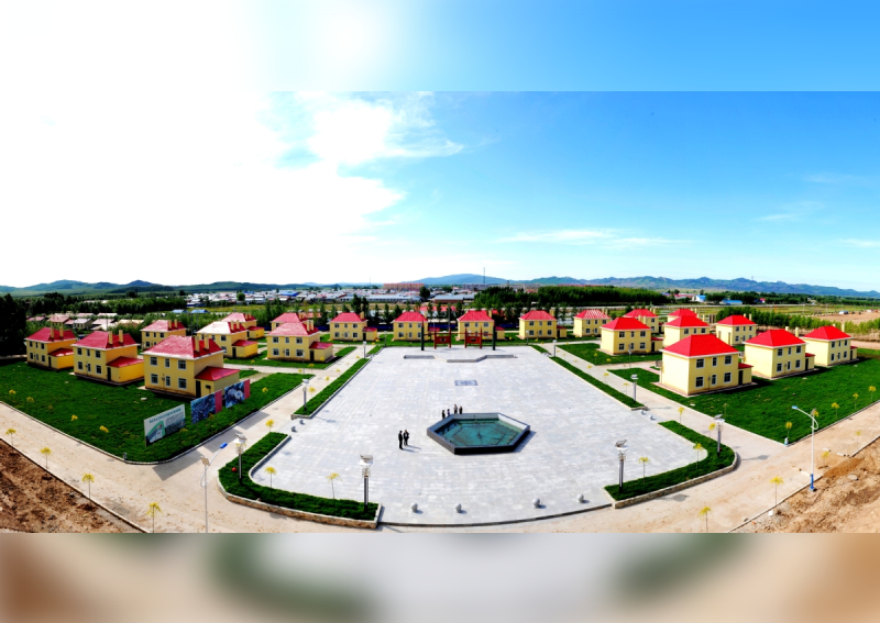 Bản vẽ của một nghệ sĩ mô tả khu dân cư Yuanbaovới diện tích 50.000 m2.Ảnh:China Daily.