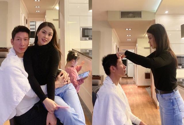 """""""Mùa dịch thì vợ bắt buộc biến hình nhiều nghề"""", Á hậu Diễm Trang chia sẻ."""