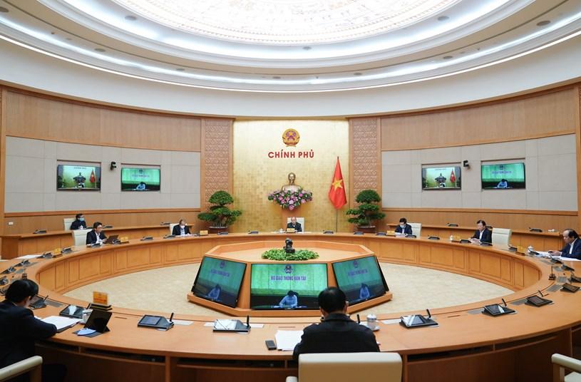 Thủ tướng Nguyễn Xuân Phúc chủ trì cuộc họp/ Ảnh: Chinhphu.vn